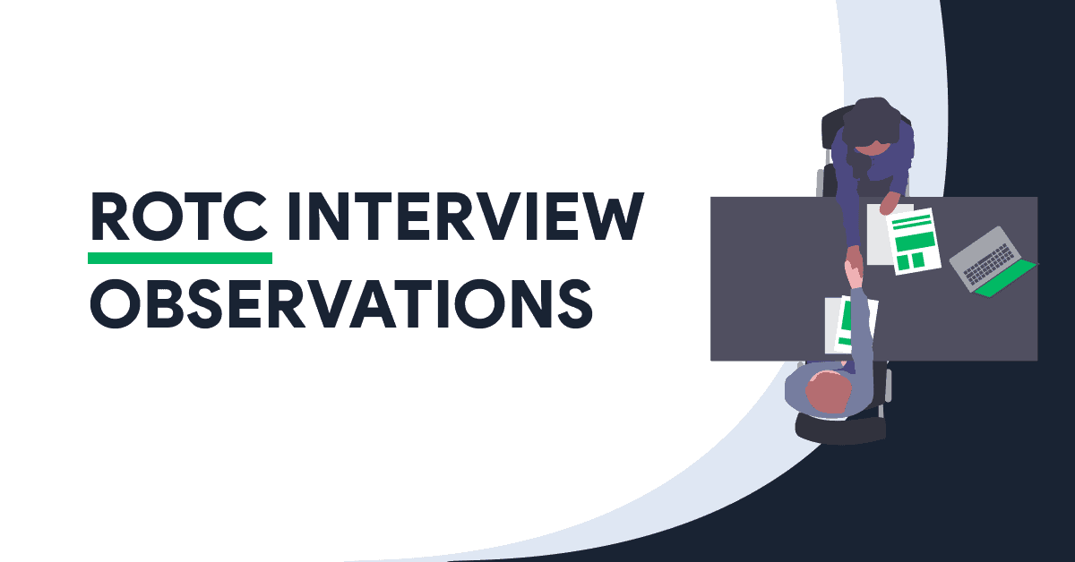 ROTC INTERVIEW OBSERVATIONS Blog Post Title
