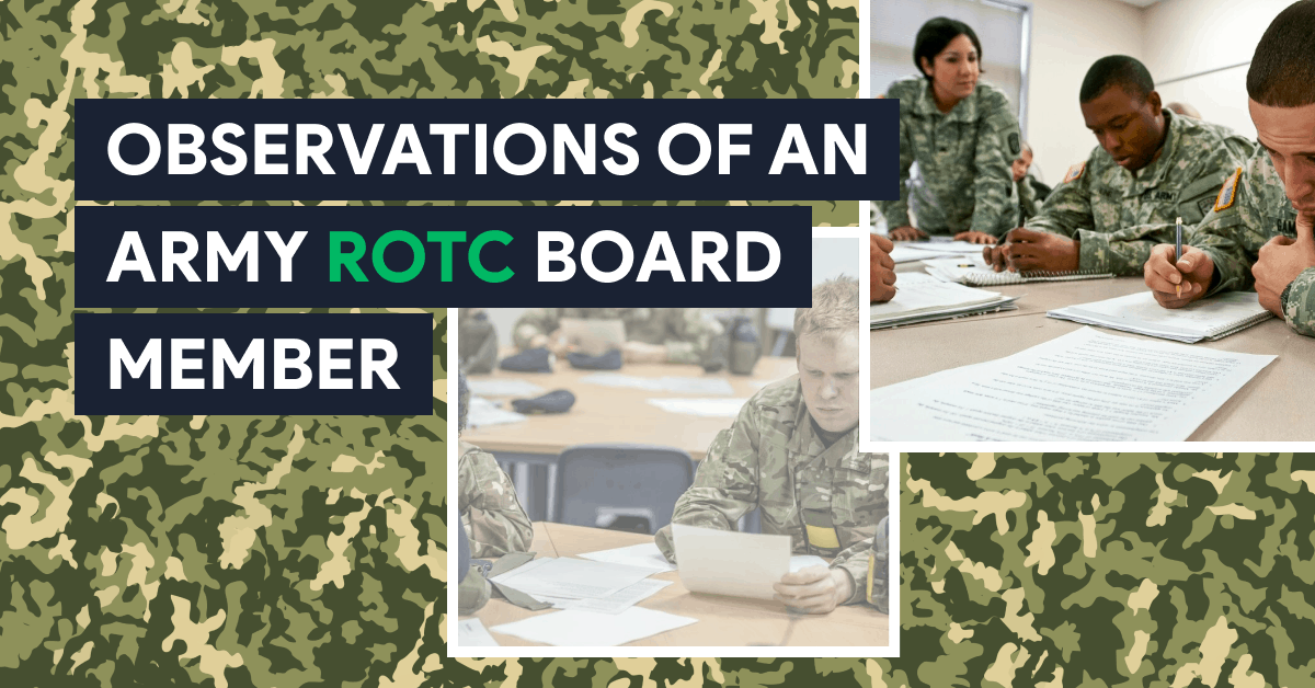 OBSERVATIONS OF AN ARMY ROTC BOARD MEMBER Blog Post Title