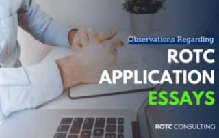 ROTC Applications Essay Observations Blog Post Title