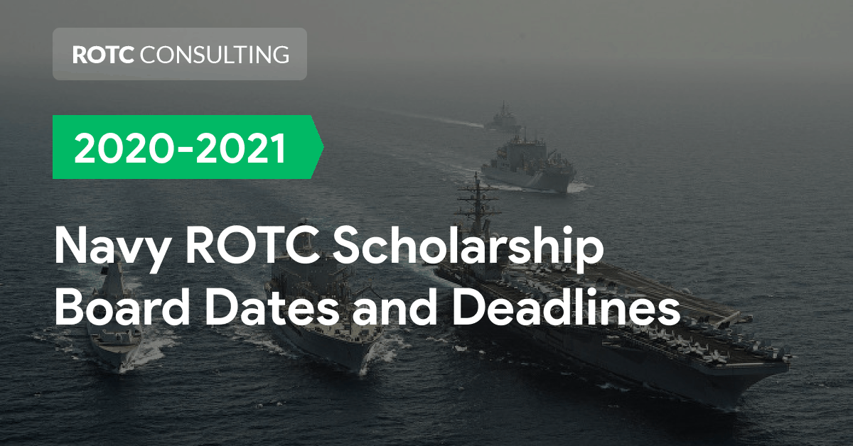2020-2021 Navy ROTC Marine Corps Option Scholarship Board Dates and Deadlines Blog Post Title