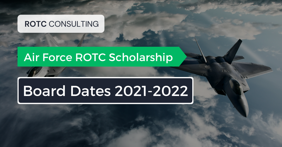 Blog post graphic for Air Force ROTC Board Dates for 2021 to 2022