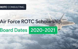 Air Force ROTC Scholarship Board Dates 2020-2021 Blog Post Title