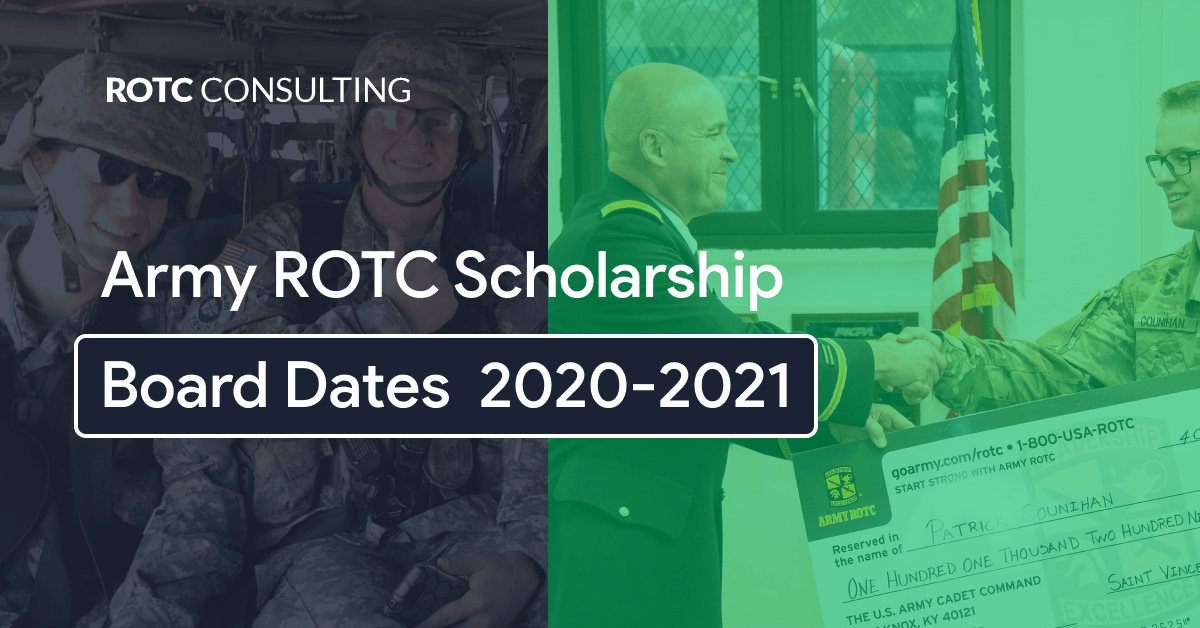 Army ROTC Scholarship Board Dates 2020-2021 Blog Post Title