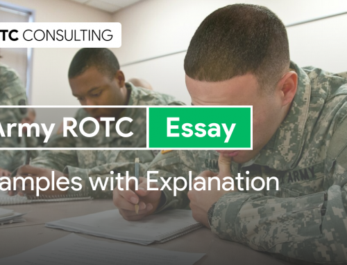 Army ROTC Essay Examples with Commentary