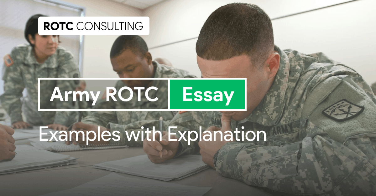 Army ROTC Essay Examples with Explanation Blog Post Title
