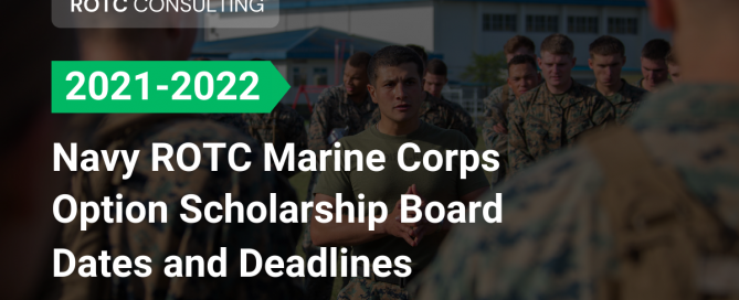BLog post title for marine corps rotc scholarship board dates