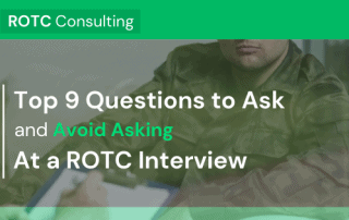 Top 9 Questions to Ask and Avoid Asking at a ROTC Interview Blog Post Title