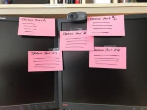 photo of notecards showing how to succeed during online ROTC interview tips during COVID-19