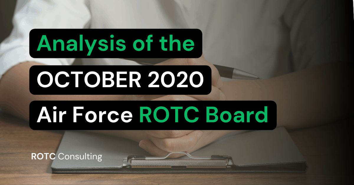 Analysis of the October 2020 Air Force ROTC Board Results Blog Title Graphic
