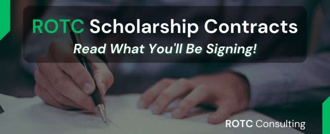 Blog Post Title Graphic of ROTC Scholarship Contracts