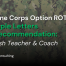 blog post graphic for post providing sample letters of recommendation for marine corps option rotc for teachers