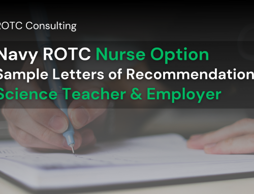 Navy ROTC Nurse Option Sample Letters of Recommendation: Science Teacher and Employer